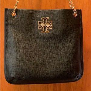 Tory Burch black pebble leather bag